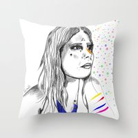 Colored Imagination Throw Pillow