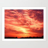 Fiery Sunrise Art Print
