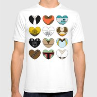 Character Hearts Mens Fitted Tee White SMALL