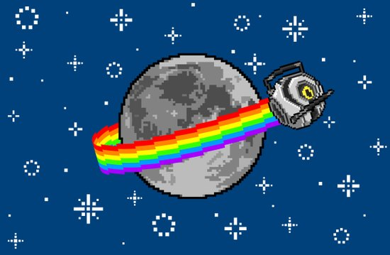 Nyan Space Core Art Print