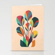 Ikebana - Geometric Flow… Stationery Cards