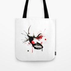 Clown Bank Robber Splatter Tote Bag