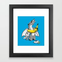 A tragic end to the story... Framed Art Print