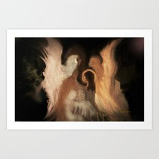 Little Family Of Angels, Abstract, by Sherriofpalmsprings Art Print