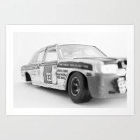 Wrecked Toy Car - Alpha … Art Print