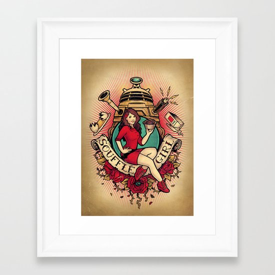 Soufflé Girl Framed Art Print