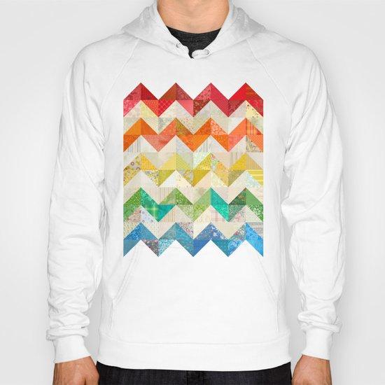 Chevron Rainbow Quilt Hoody