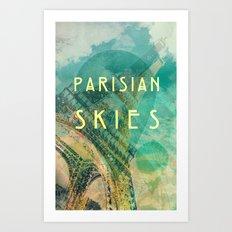 Songs and Cities: Parisian Skies Art Print
