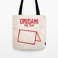 Origami: The Tent Tote Bag