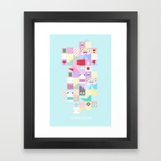 For Japan with love 4 Framed Art Print