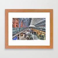 St Pancras On The Move Framed Art Print