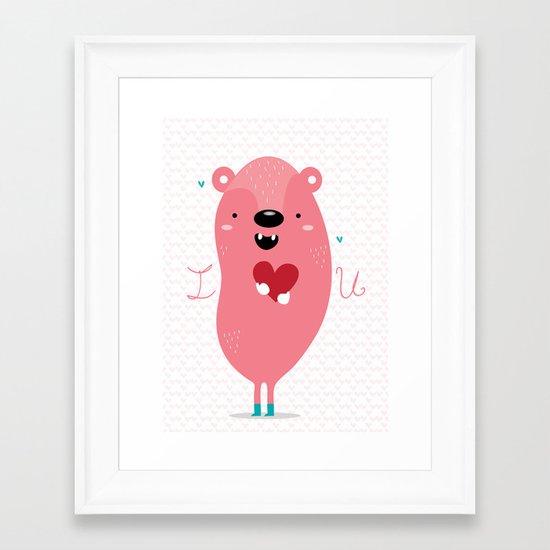I heart u Framed Art Print
