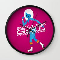 Roller Girl From Mars Wall Clock