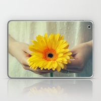 The Girl With The Daisy  Laptop & iPad Skin