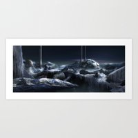 Art Print featuring Ice City by Viggart