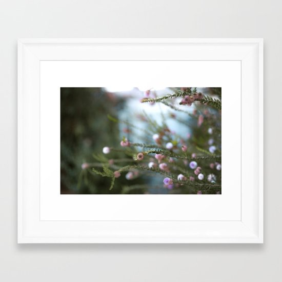 softly open our mouths Framed Art Print