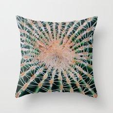 Cactus Plant Close Up Throw Pillow