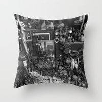 One Man's Possessions Throw Pillow