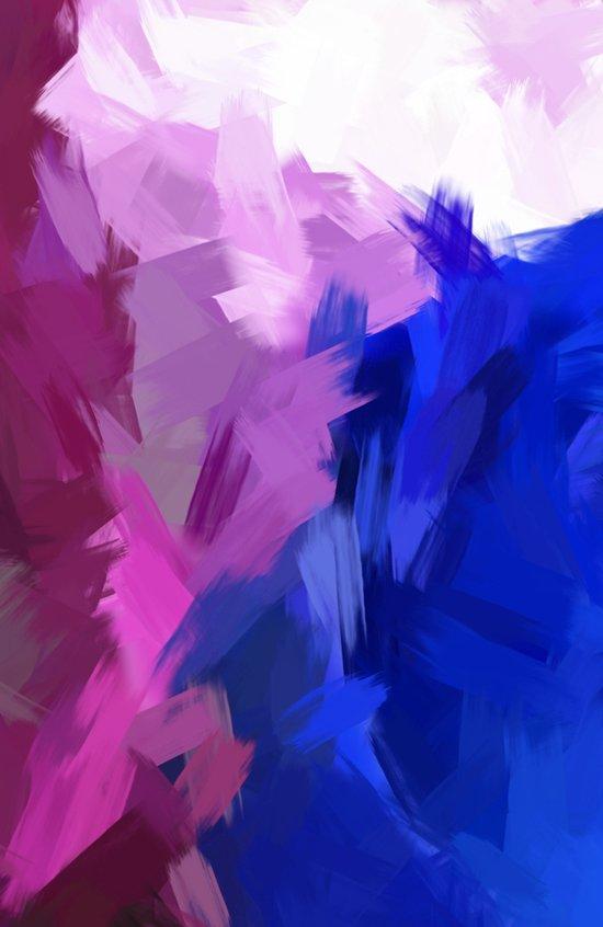 BLOSSOMS - PURPLE Canvas Print