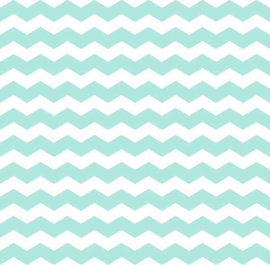 Mint Chevron Art Print