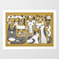 MENAGERIE Art Print