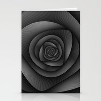 Spiral Labyrinth In Mono… Stationery Cards
