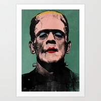 The Fabulous Frankenstei… Art Print