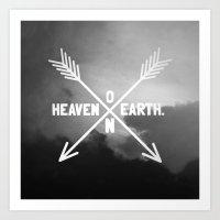 Heaven on Earth (B&W) Art Print
