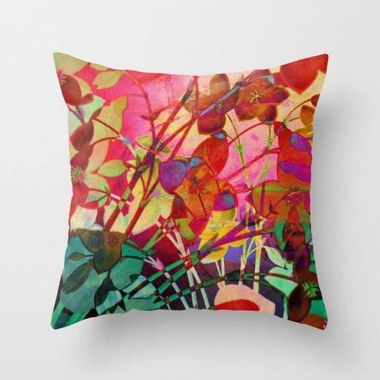 wild floral Throw Pillow