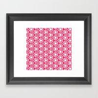 Zoutman Neon Pink Patter… Framed Art Print