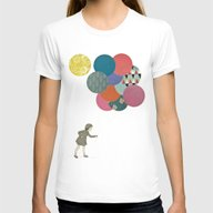 Party Girl Womens Fitted Tee White SMALL