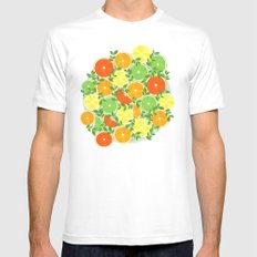 A Slice of Citrus Mens Fitted Tee White SMALL