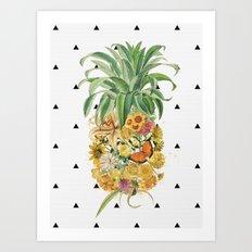 Pineapple Floral Art Print