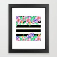 Stylish Black White Gold… Framed Art Print