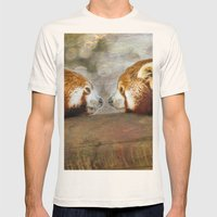 Nose to Nose Mens Fitted Tee Natural SMALL