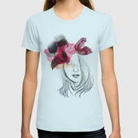 Chloé Womens Fitted Tee Light Blue SMALL
