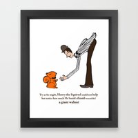 Henry the Squirrel's a Gentleman Framed Art Print