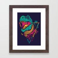 Space Rex Framed Art Print