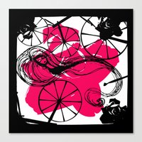 Briar Rose with Spinning Wheels Canvas Print