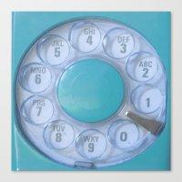 Aqua Hotline Canvas Print