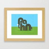 Elephont Framed Art Print