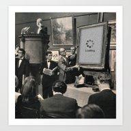 Art Print featuring Silent Auction by Sammy Slabbinck