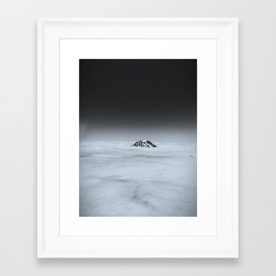 Higher than the Clouds (with an iPhone) Framed Art Print