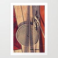 Sailboat Deck Art Print