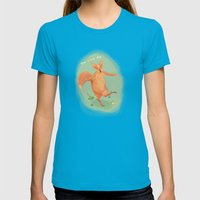 Have a nice day! Womens Fitted Tee Teal SMALL