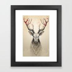 Deer Tree Framed Art Print