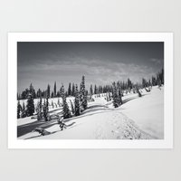 Snow-covered Art Print