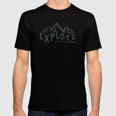 Explore Black SMALL Mens Fitted Tee