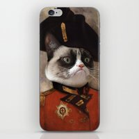 Angry Cat. Grumpy Genera… iPhone & iPod Skin