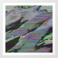84-03-22 (Cloud Glitch) Art Print